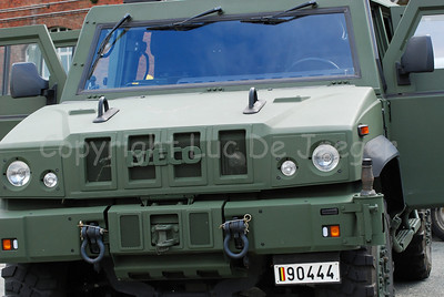 The Iveco LMV that replaces the VW Iltis in the Belgian army.