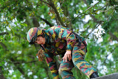 A paratrooper during a hostage rescue operation (HRO) training session.
