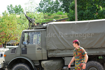 A Unimog, one of the most used vehicles in the Belgian army.