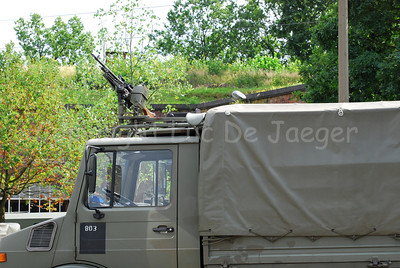The Unimog, one of the most used vehicles (and workhorses) in the Belgian army.