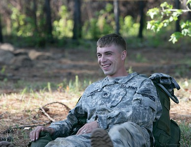 SSG Cherry, 75th Ranger Regiment, manages a smile on the morning of day 2