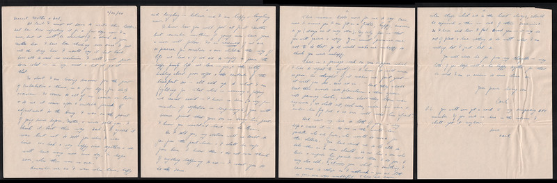 Letter from Carl Rothschild, written during his time in service in the US Army Air Corps in China during World War II.  <br /> <br /> This letter was written just prior to his deployment from Kelly Field in Texas to the China-Burma theatre.