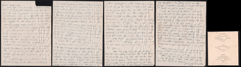 Letter from Carl Rothschild, written during his time in service in the US Army Air Corps in China during World War II.  <br /> <br /> This letter was written in the course of his deployment from Kelly Field in Texas to the China-Burma theatre.