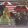 Unveiling of POW chair at Cawley Stadium, before the Lowell-Methuen football game.  (SUN/Julia Malakie)