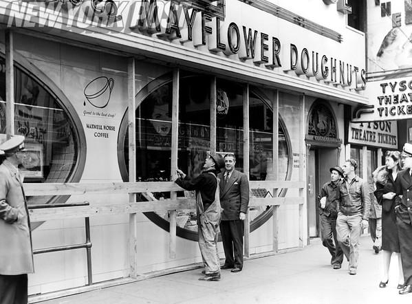 Celebration of V-E Day in New York City's Time Square. 1945