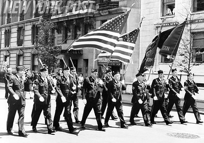 Rivalry American Legion Posts join in a Memorial Day ceremony in New York City. 1964