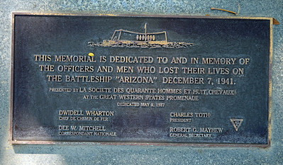 Plaque to the Arizona Crewmen