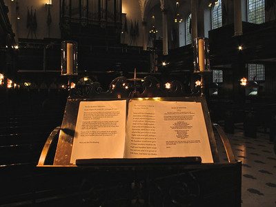 75th Anniversary Church Service, lectern with readings