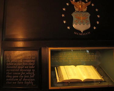75th Anniversary Church Service,  USAAF Book of Remembrance, St Clement Danes