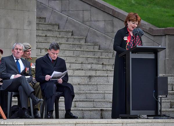 National Ceremony to mark the Centenary of the Battle for Chunuk Bair, Pukeahu National War Memorial Park, Wellington, 8 August 2015