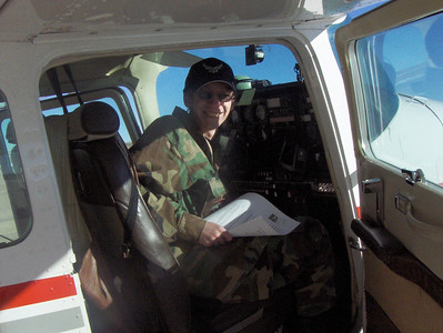 2008 - Tony's first O-Flight at Buckley AFB - Co-Pilot seat
