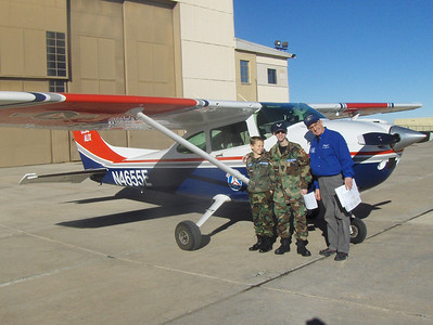 2008 - Tony's first O-Flight at Buckley AFB - Gradecki, Tony, and Pilot