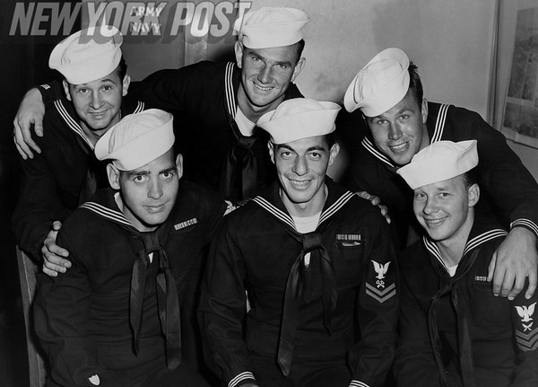 Six members of the U.S. Coast Guard in New York. 1943