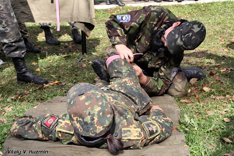 Этап проверки военно-медицинской подготовки (Medic contest)
