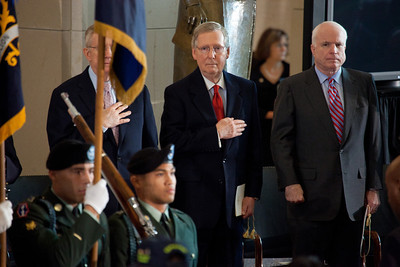 Senate Majority Leader Harry Reid (D-NV), Senate Minority Leader Mitch McConnell (R-KY) Senator John McCain (R-AZ)