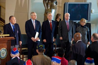 Senator Daniel Inouye (D-HI) Senate Majority Leader Harry Reid (D-NV), Senate Minority Leader Mitch McConnell (R-KY) Senator John McCain (R-AZ)