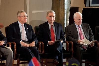 Senate Majority Leader Harry Reid (D-NV), Senate Minority Leader Mitch McConnell (R-KY) Seantor John McCain (R-AZ)