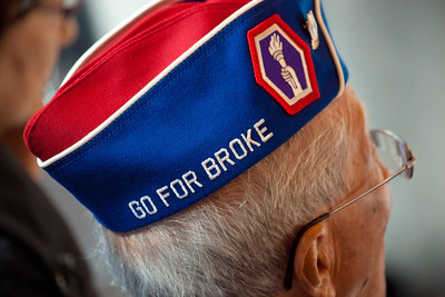 "The motto of the 442nd Regimental Combat Team was ""Go for Broke."""