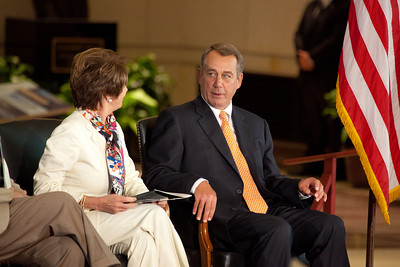 House Minority Leader Nancy Pelosi (D-CA) House Speaker John Boehner (R-OH)