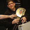 """WWE Hall of Fame wrestler Tito Santana is special guest at """"2018 Contribute to the Troops"""" at Lowell VFW Post 662.  (SUN/Julia Malakie)"""