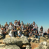 The Army ROTC Cowboy Battalion on the summit of Medicine Bow Peak.