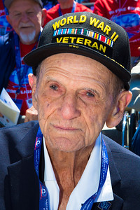 D-Day veteran Antonio Gimenez, 92, of Miami, FL. Gimenez served with the Army 159th Infantry Regiment during the invasion of Normandy by allied troops that turned the tide of the war. He was born in Puerto Rico.