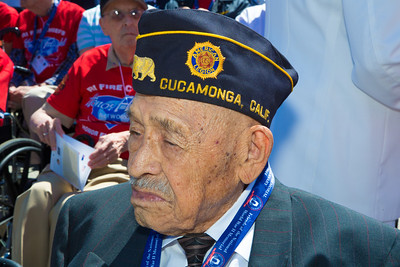 World War II veteran Henry Mendoza of Rancho Cucamonga, California was an airplane mechanic in the Army