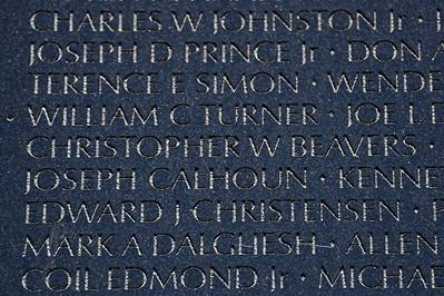 The Vietnam Veterans Memorial Wall - Washington, DC - May 14, 2015 - Christopher Wayne Beavers - Panel 20E - Line 21