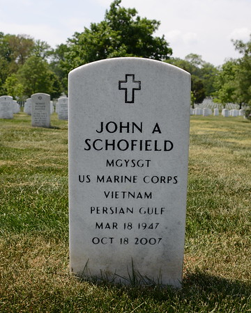 Arlington National Cemetery, Arlington, Virginia - May 16, 2015 - John A. Schofield - Section 54 - Site 855