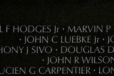 The Vietnam Veterans Memorial Wall - Washington, DC - May 14, 2015 - John Charles Luebke - Panel 50W - Line 2