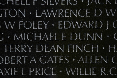 The Vietnam Veterans Memorial Wall - Washington, DC - May 14, 2015 - Michael Edward Dunn - Panel 35E - Line 38