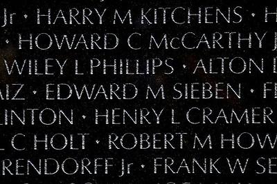 The Vietnam Veterans Memorial Wall - Washington, DC - May 14, 2015 - Edward Michael Sieben - Panel 9E - Line 101
