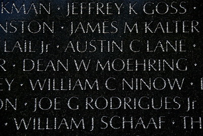 The Vietnam Veterans Memorial Wall - Washington, DC - May 14, 2015 - Dean Ward Moehring - Panel 30W - Line 27