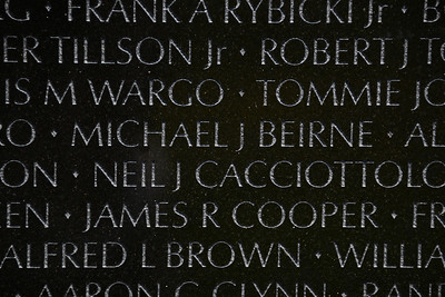 The Vietnam Veterans Memorial Wall - Washington, DC - May 14, 2015 - Michael James Beirne - Panel 19E - Line 77