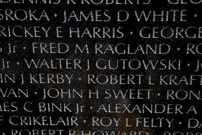 The Vietnam Veterans Memorial Wall - Washington, DC - May 14, 2015 - Walter Joseph Gutowski - Panel 20W - Line 97