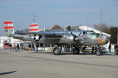 Lead B-25 for the last three reunions. (Fun Fact - two photographers have fallen out while taking photos.)