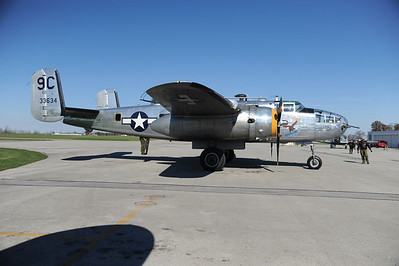 """Yankee Warrior"" a B-25D but still 3 years younger than our plane."
