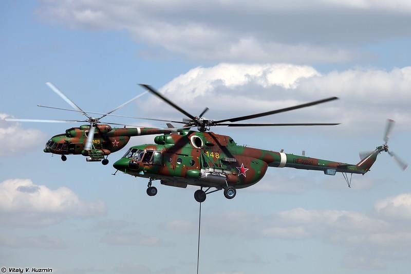 Ми-8АМТШ авиации Росгвардии обеспечивает эвакуацию боевых пловцов (Mi-8AMTSh evacuated combat drivers)