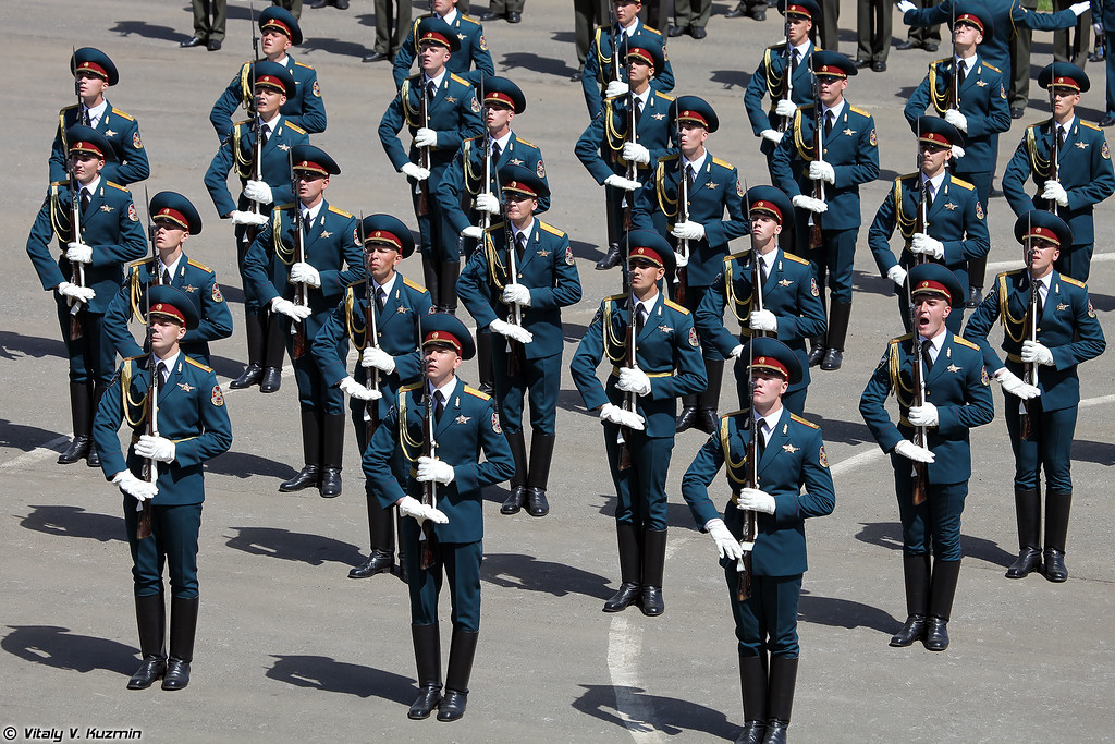 Выступление роты почетного караула 2-го полка ОДОН (ODON division Honor Guards company)