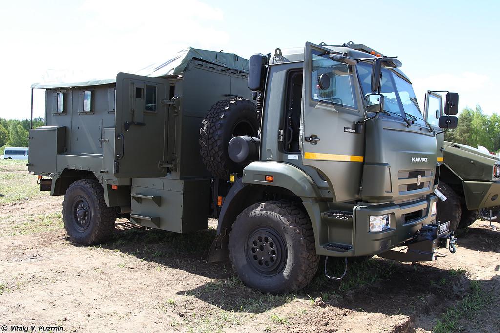 Автомобиль специальный бронированный Горец 3958 на шасси КАМАЗ-43501 (Gorets 3958 armored vehicle on KAMAZ-43501 chassis)