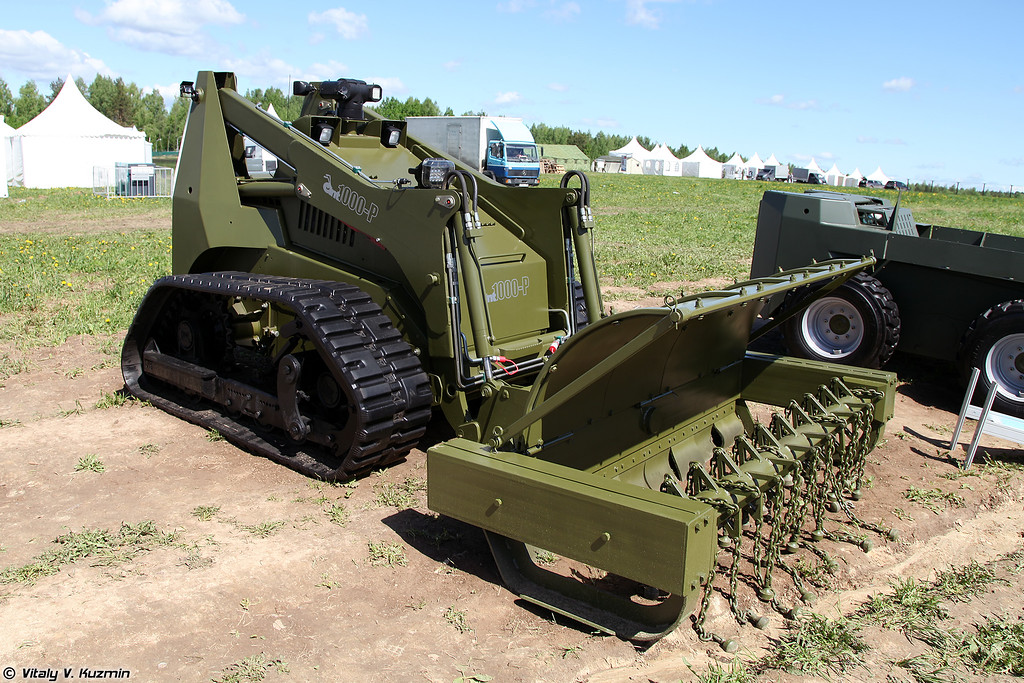 Робототехнический комплекс ANT 1000-Р (ANT 1000-R mine clearing vehicle)