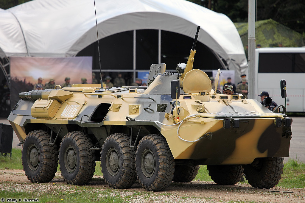 БТР-80М (BTR-80M armored personnel carrier)