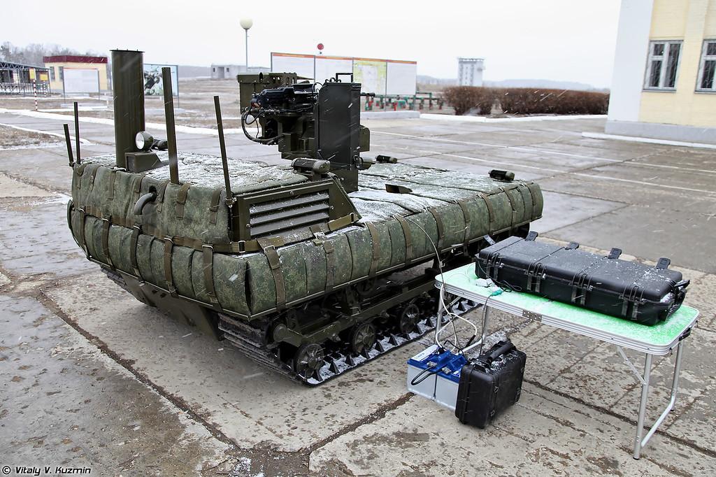 Мобильный робототехнический комплекс МРК-002-БГ-57 (MRK-002-BG-57 combat robot)