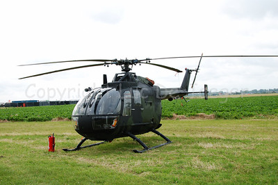 A MBB BO-105 helicopter of the German Army (Bundeswehr).
