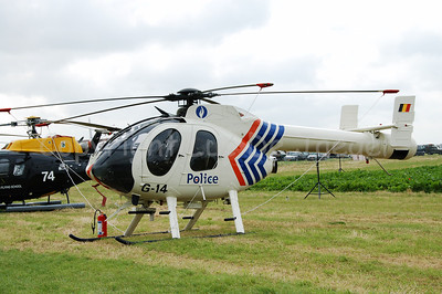A McDonnell Douglas 520 helicopter of the Belgian Federal Police.