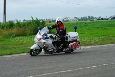 A member of the Military Police on a BMW R 1150 RT motorcycle. From July 2007 they will wear another unifom (with more reds in it an less black to be more visible).