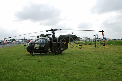 The Alouette II helicopter, still in use in the Belgian Army...