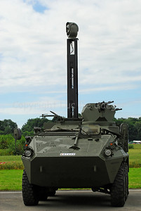 The Pandur, an Austrian Wheeled Armoured Vehicle used in recce or scout operations in the Belgian Army.