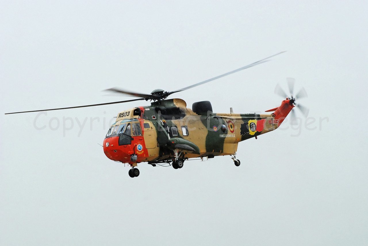 The Sea King helicpoter of the Belgian Army (Air Force). The helicopter will be replaced by the European NH90 Eurocopter.