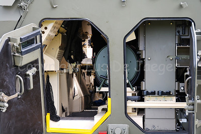 The interior of the Pandur Wheeled Armoured Vehicle.
